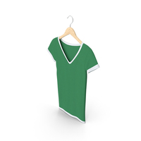 Female V Neck Hanging White and Green PNG & PSD Images