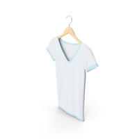 Female V Neck Hanging White And Blue PNG & PSD Images
