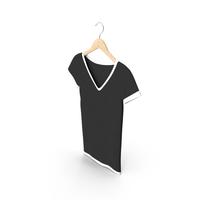 Female V Neck Hanging White And Black PNG & PSD Images