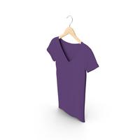 Female V Neck Hanging Purple PNG & PSD Images