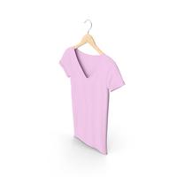 Female V Neck Hanging Pink PNG & PSD Images