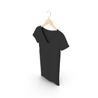 Female V Neck Hanging Black PNG & PSD Images