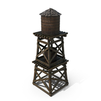 Old Water Tower PNG & PSD Images