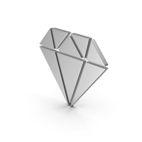 Symbol Diamond Silver PNG & PSD Images