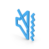 Symbol Sound Vibrate Blue PNG & PSD Images
