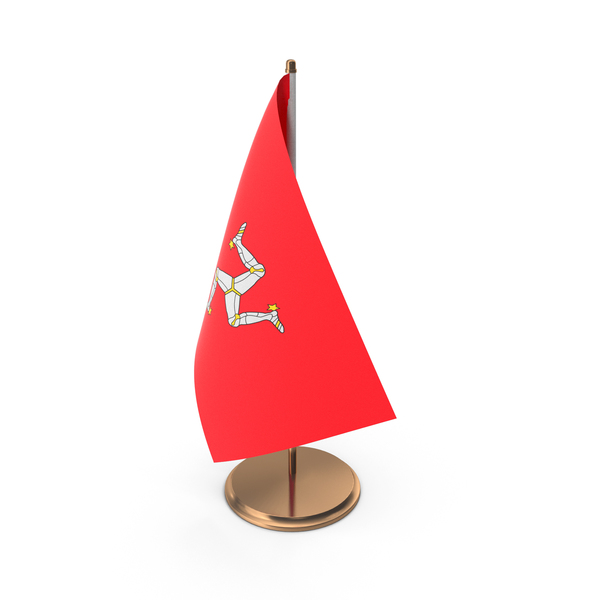 Isle of Man Desk Flag PNG & PSD Images