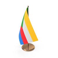 Comoros Desk Flag PNG & PSD Images