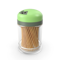 Wooden Toothpicks in Plastic Container PNG & PSD Images