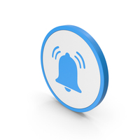 Icon Alarm Bell Ring Blue PNG & PSD Images