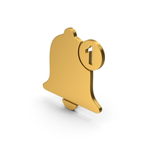 Symbol Notification Gold PNG & PSD Images