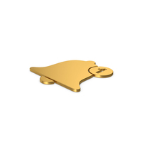 Gold Symbol Notification PNG & PSD Images