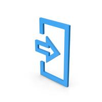 Symbol Login Blue PNG & PSD Images