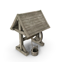 Wooden Water Well PNG & PSD Images
