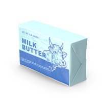 Wrapped Unsalted Cow Milk Butter PNG & PSD Images