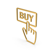 Symbol Buy Button Gold PNG & PSD Images