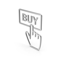 Symbol Buy Button Silver PNG & PSD Images