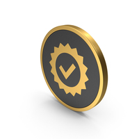 Gold Icon Guarantee PNG & PSD Images