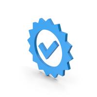 Symbol Guarantee Blue PNG & PSD Images