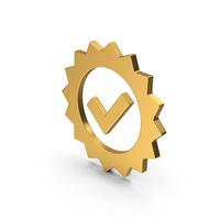 Symbol Guarantee Gold PNG & PSD Images