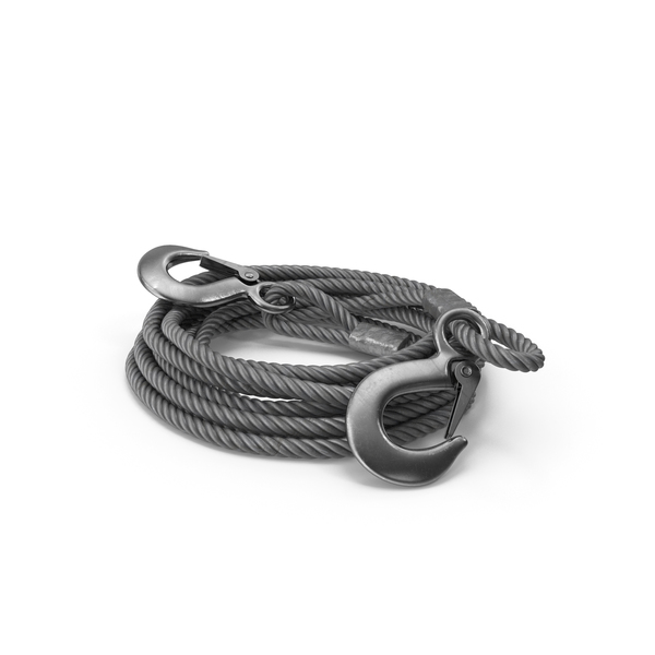 Tow Trailer Strap Cable Metal Hooks PNG & PSD Images