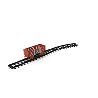 Toy Railway Wagon with Rails PNG & PSD Images