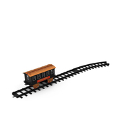 Toy Train Carriage with Rails PNG & PSD Images