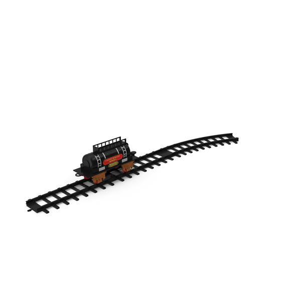 Toy Train Tank with Rails PNG & PSD Images