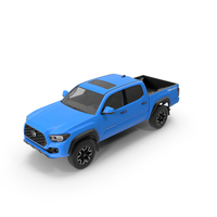 Toyota Tacoma TRD Off Road Voodoo Blue 2021 PNG & PSD Images