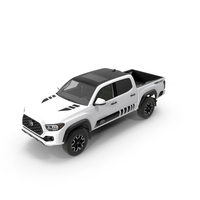 Toyota Tacoma TRD Off Road White Perl 2021 PNG & PSD Images