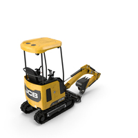 Tracked Mini Excavator JCB Dirty PNG & PSD Images