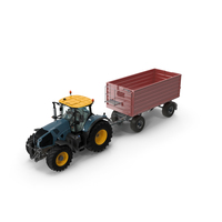 Tractor with Dump Trailer New PNG & PSD Images