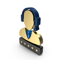Support Customer Care Service Men Five Star Rating PNG & PSD Images