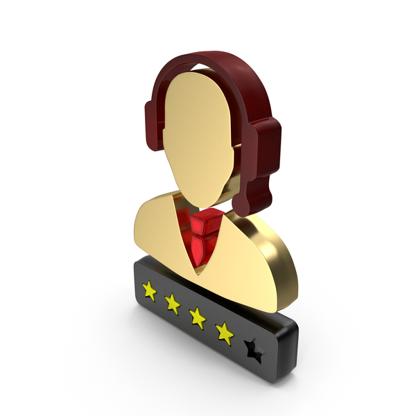 Support Customer Care Service Men Four Star Rating PNG & PSD Images