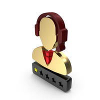 Support Customer Care Service Men One Star Rating PNG & PSD Images