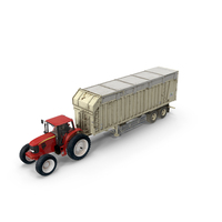 Tractor with Harvester Trailer PNG & PSD Images