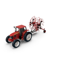 Tractor with Twin Rotary Rake Generic Parked PNG & PSD Images