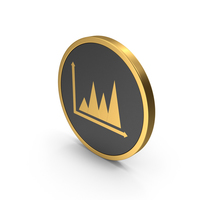 Gold Icon Graph Chart PNG & PSD Images