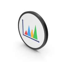 Icon Graph Chart Colored PNG & PSD Images
