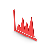 Symbol Graph Chart Red PNG & PSD Images