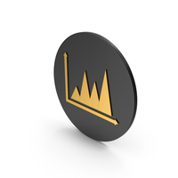 Graph Chart Gold Icon PNG & PSD Images
