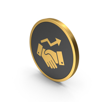 Gold Icon Deal Growth PNG & PSD Images