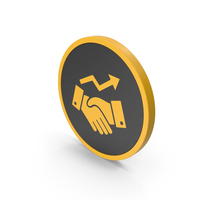 Icon Deal Growth Yellow PNG & PSD Images