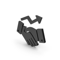 Symbol Deal Growth Black PNG & PSD Images