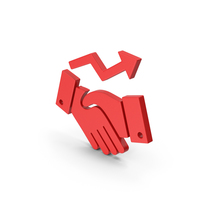 Symbol Deal Growth Red PNG & PSD Images