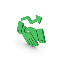 Symbol Deal Growth Green PNG & PSD Images