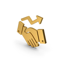Symbol Deal Growth Gold PNG & PSD Images