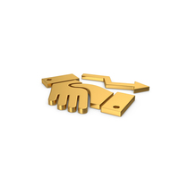 Gold Symbol Deal Growth PNG & PSD Images