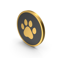 Gold Icon Animal Paw PNG & PSD Images