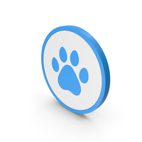Icon Animal Paw Blue PNG & PSD Images