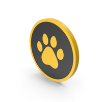 Icon Animal Paw Yellow PNG & PSD Images